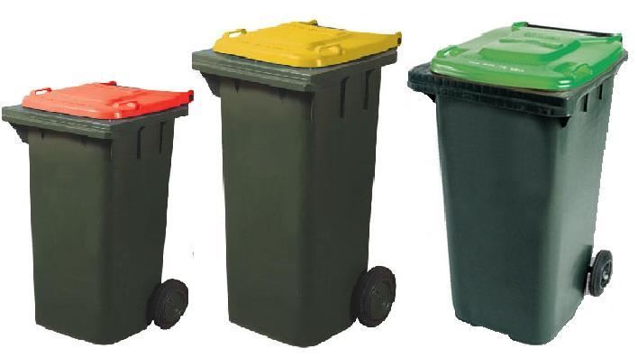 källsortering av dina hushållssopor i rätt återvinningskärl